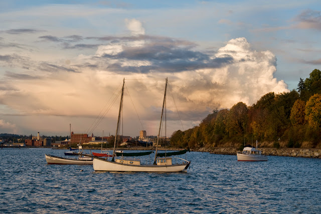 Bellingham Bay boats. Credit: Peter James