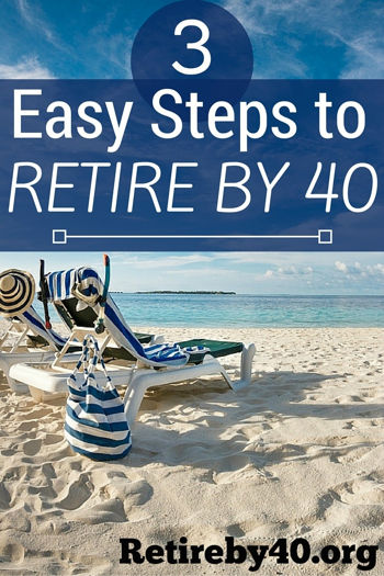 3 Easy Steps to Retire By 40