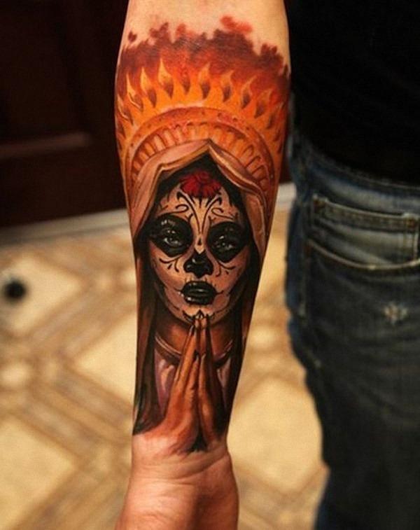 dia_dos_mortos_açcar_tatuagem_de_caveira