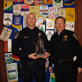 Law Enforcement Officer of the Year 2012 Michael C. Clark with Police Chief Tom Schwedhelm