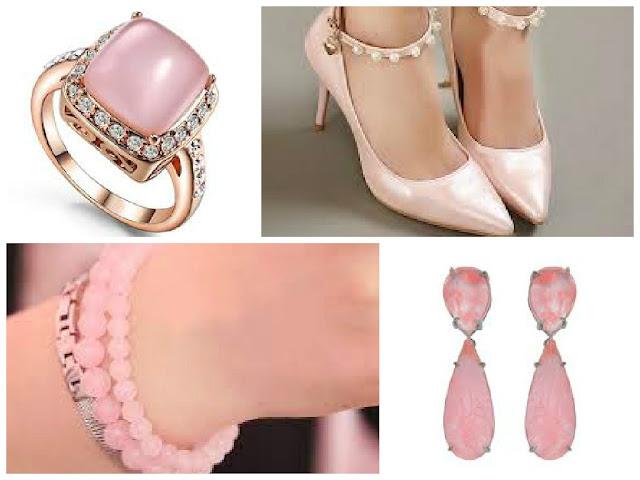 Acessórios rosa quartzo