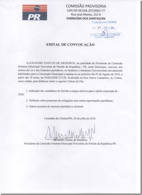 Convenção do PR 2