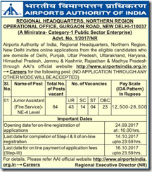 AAI Junior Assistant Fire Service 2017 www.indgovtjobs.in