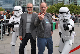With Lance Henriksen and Storm Trooper escorts confronting rowdy fan boys at Toronto Fan Expo