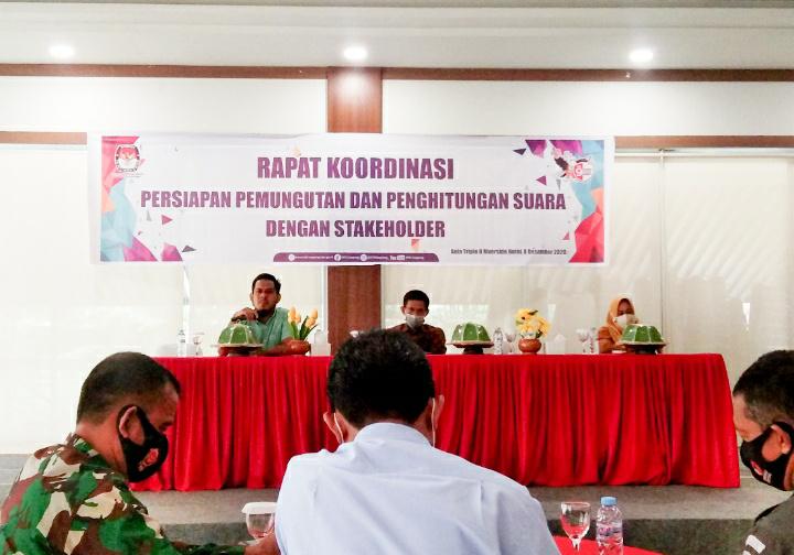 Rakor Jelang Pilkada, KPU Soppeng : TIDAK ADA rapid dan Swab test di TPS