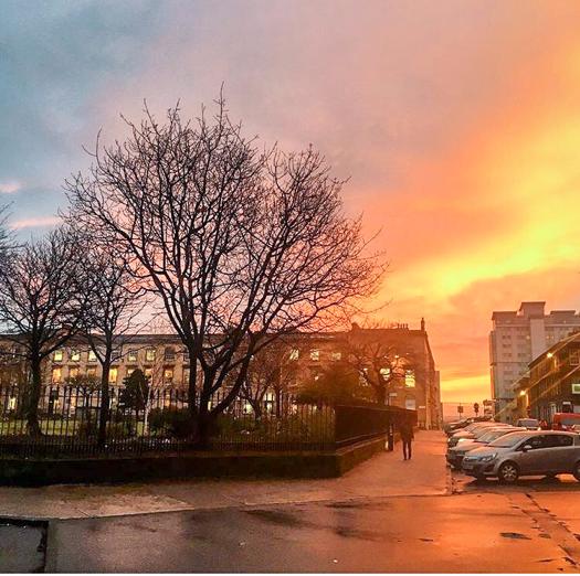 lifestyle travel blog Glasgow sunset