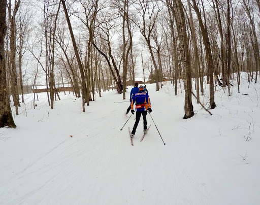 Washburn Nordic skiers training on Skaters Waltz Friday afternoon