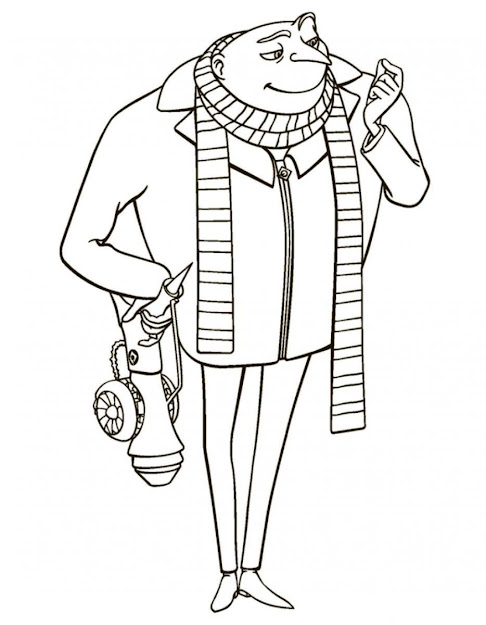 Gru Despicable Me Coloring Pages