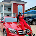 Actress Mercy Aigbe acquires a new Mercedes Benz amid COVID-19(photo)