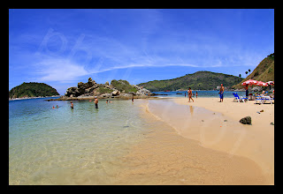 The beach of Ya Nui on the Phuket West Coast