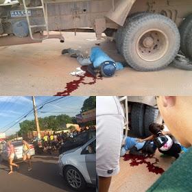 Santarém/PA: Motoqueiro morre ao ser atingido por caminhão na Av. Fernando Guilhon
