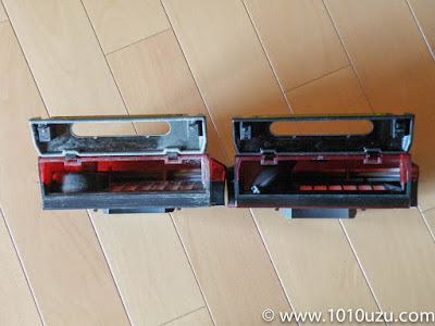 ルンバダストボックス比較 左:ルンバ885右:ルンバ980