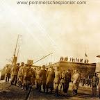 Marshal Hindenburg visiting flying station at Zeebrugge