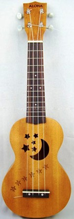 Aloha moon and stars soprano Ukulele