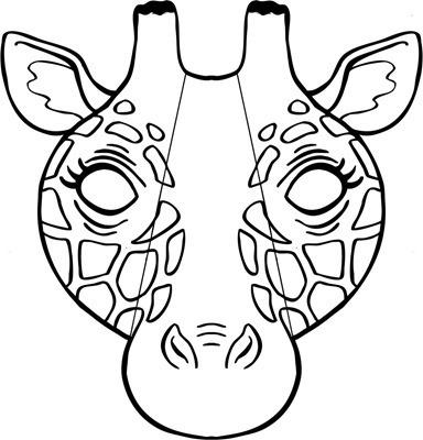 jirafa 4mascara de animales  para colorar (105)_thumb