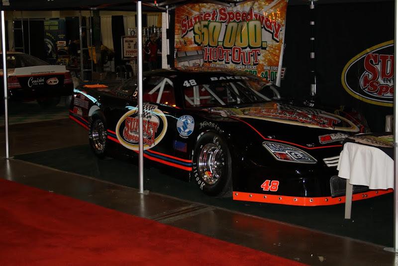 Sunset Speedway's display.