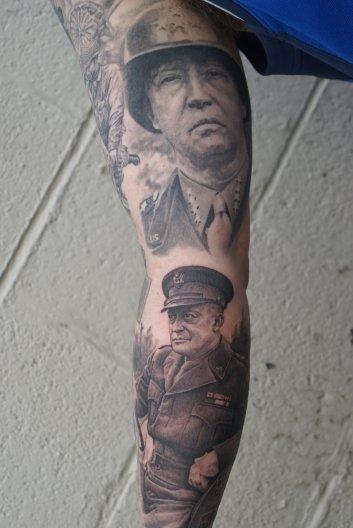Patton & Eisenhower