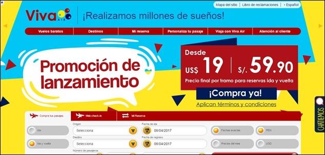 Abrir mi cuenta Viva Air Peru