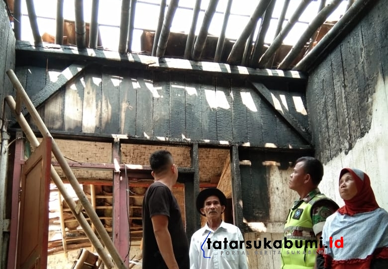 Rumah Warga di Nyalindung Sukabumi Terbakar