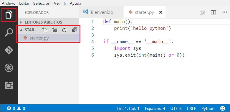 agregar archivo a carpeta VS Code