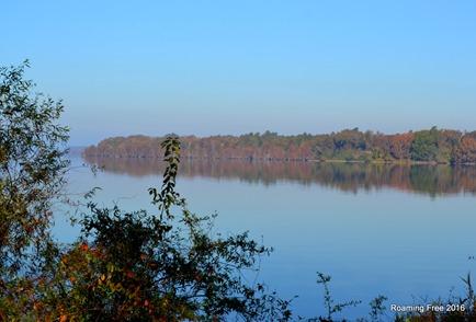 The lake is like glass