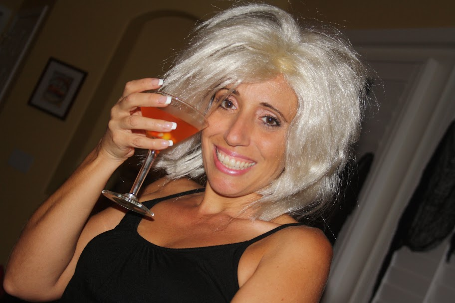 Theresa Caputo and Diane Young at a Halloween Party