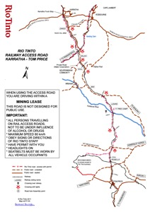 Railway Access Road Map