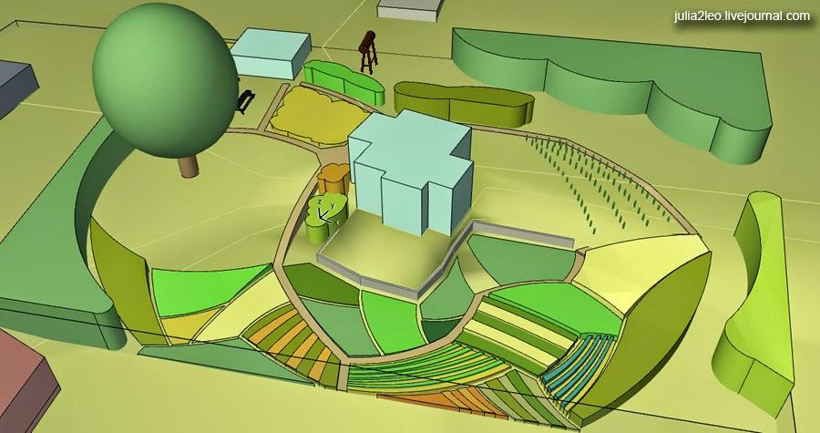 ландшафт в стиле фермы