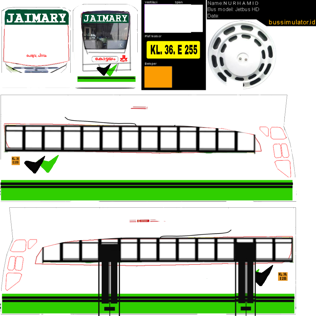 Bussid kerala: Kerala bus livery