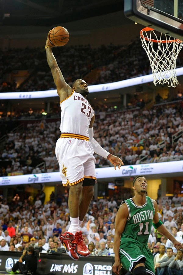 7c7bdbfe183 LBJ Debuts LeBron 12 Elite 8220Ignite8221 in Game One Win Over Boston . LeBron  James – Nike LeBron 12 PE ...