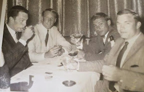 L - R John Ritch, Rollie Stichweh, Buddy Bucha, and Mark Walsh at the Riviera Hotel in Las Vegas shortly after our graduation from West Point