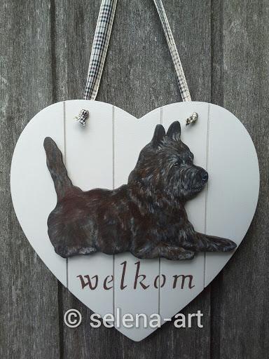 Welkom hart met roodgestroomde Cairn Terrier