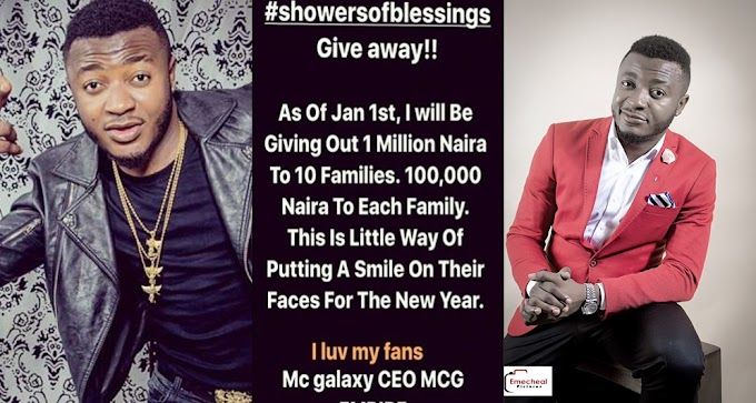 Singer MC Galaxy To Give OutN1 Million On New Year Day