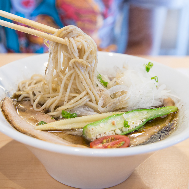 photo of the noodles with Pork Black Ramen