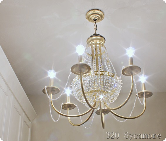 crystal chandelier makeover