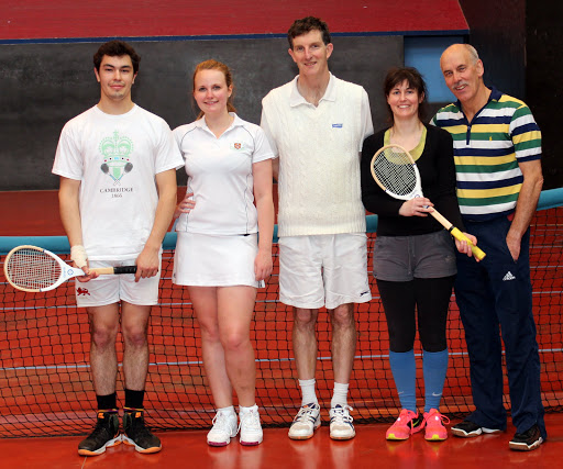 Divison 2 Finalists: Aurelien Gueroult, Emiliy Chadwick, Peter, Amanda Murphy & Howard Mason try to confuse by lining up in the wrong order