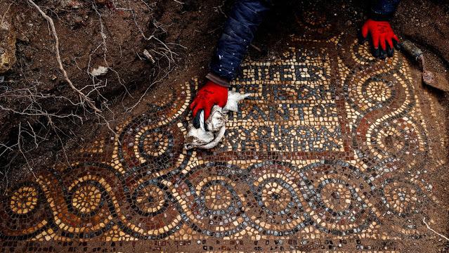 Μ. Ασία: Βυζαντινό μωσαϊκό 1.500 ετών βασιλικής βρέθηκε κοντά στην Σμύρνη .