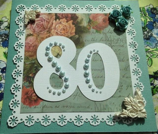 födelsedagskort 80 år Lindas korthus: Farmor 80 år födelsedagskort 80 år