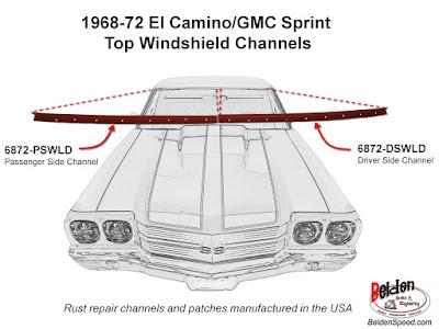 rear window rust repair,window channel patch panels,Chevelle,Monte Carlo,GTO,LeMans,Tempest,Cutlass,Camaro,Firebird,Beldenspeed,Belden Speed & Engineering,F Body,A Body,Skylark,El Camino