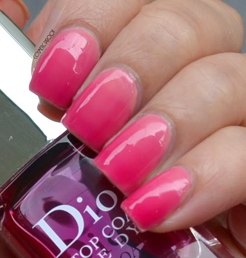 Dior Tie Dye Top Coat 869 Review Swatch Gradient Nail Art (2)