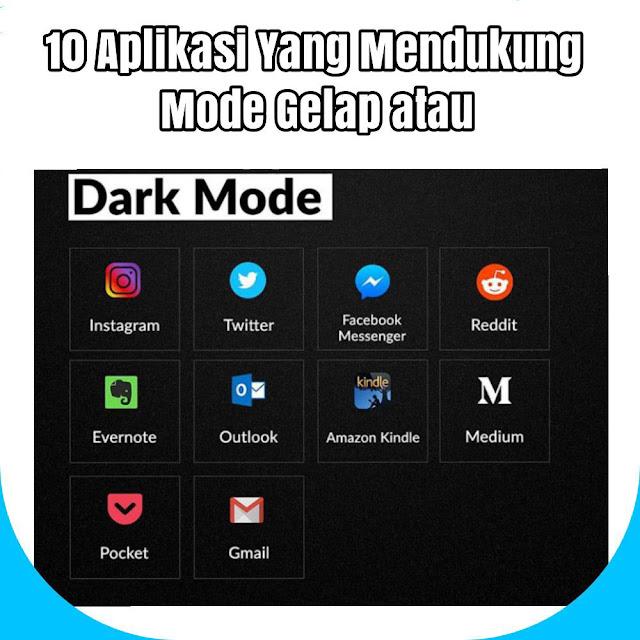 10 Aplikasi Android Yang Mendukung Mode Gelap atau Dark Mode