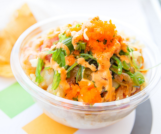 close-up photo of a poke bowl