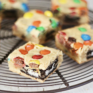 M&M Oreo Cookie Bars Recipe