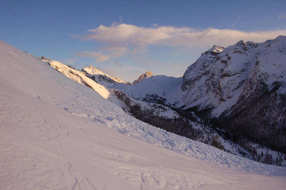Avalanche Ubaye, secteur Brec de Chambeyron, Au dessus du village de Fouillouse - Photo 1 - © Loubet Remi