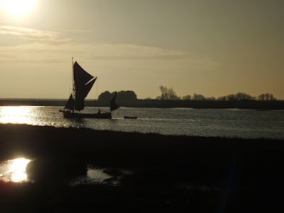 Thames barge heading down river