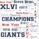 Giants Super Bowl Custom Paper