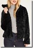 Oasis Black Faux Fur Jacket