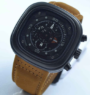 jam yangan Harley davidson chrono brown leather grey