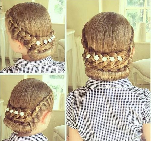 Cute Braided Hairstyles trendy for kids 2017 8
