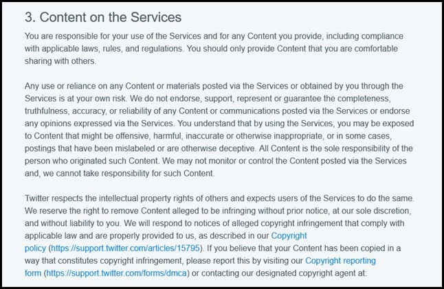 Twitter's new T & C: You will give up your IP rights on your content by posting on Twitter.